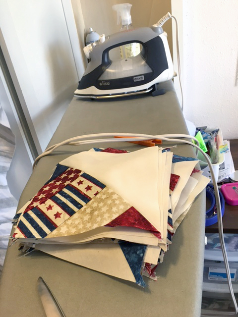 Hi All, I am working on a patriotic quilt this week. The photos show some of it on my flannel &#8216