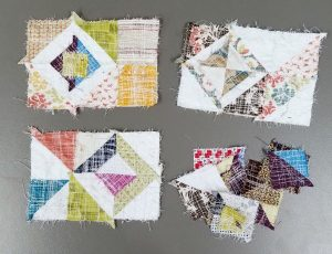 Thought I'd share a tutorial on making fabric postcards with leaders and enders! I saw at a qu