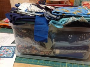 I'm hoping the Mountain High BOM can help me tame this out of control bin of blue scraps! It w