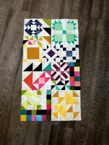 The LAST BLOCK UNIT! So exciting! This block unit has my second favorite block in the quilt, the bea