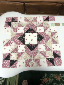 Obviously not sewn together. I got the bottom two rows put together just fine. They even came out to