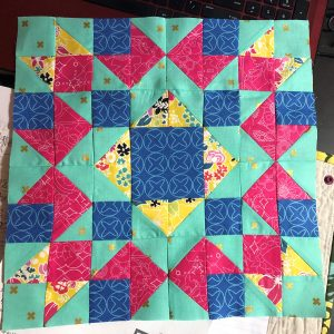 Here's mine! I'm so excited about this quilt, it's gonna be so fun to watch it com