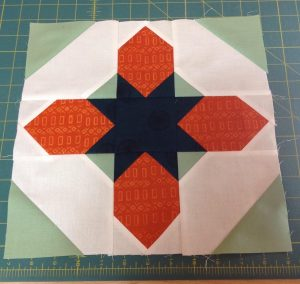 Here's my Moroccan Star Block. I really liked this pattern, although I'm wondering if I