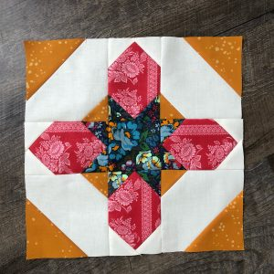 Here's my Moroccan Star Block from Kelly of My Quilt Infatuation! I just love this block. I am