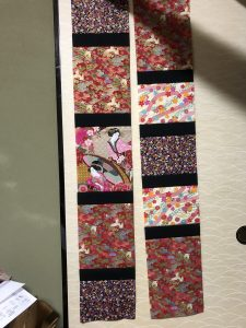 My Sunday progress: It has been quite a challenge to actually make it to the machine today to sew. I