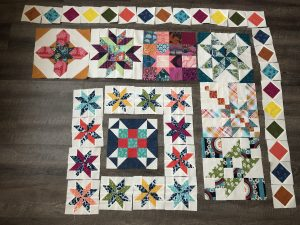 Sometimes with long term projects like this it really does the heart good to lay out the whole quilt