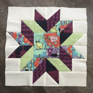 "I had so much fun with this block. I wanted my ""feature"" fabric to shine just a little e"