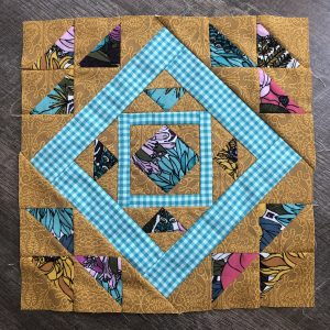 Here's mine! This was such a fun block… so interesting! I love it. Can't wait to s