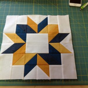 Oh I love your fabric square in the middle. Here's mine!June Designer