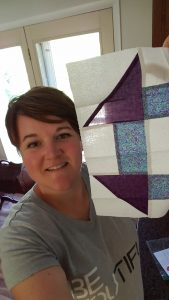 Check out this beautiful block from Kathryn L. First block for the charity quilt top we are sewing t