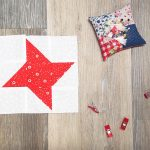 Night Sky Nine Patch Star Quilt Blocks or Pinwheels
