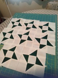 Just finished my pinwheels found the block fun to make with great instructions on how to do the half