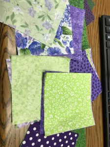 These are the squares I received Thursday! Purples and greens, my favorite color combos!!!! CD6E7566